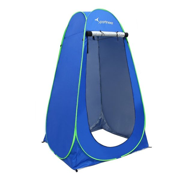 7. Pop Up Camping Shower Tent, Sportneer Portable Dressing Changing Room Privacy Shelter Tents for Outdoor Camping Beach Toilet and Indoor Photo Shoot with Carrying Bag, 6.25 ft Tall