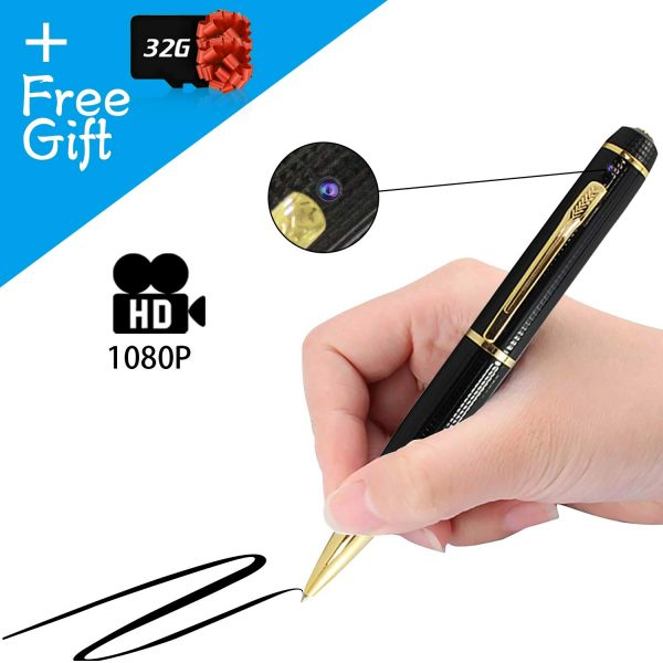 7. Security Camera Pen 1080P HD for Surveillance Meeting Video and Photo Recorder 32GB SD Card Included