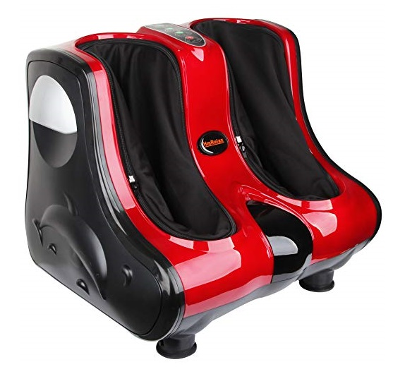 7. Shiatsu Kneading, Rolling & Heating Foot & Calf Massager Personal Health Studio Leg Beautician red