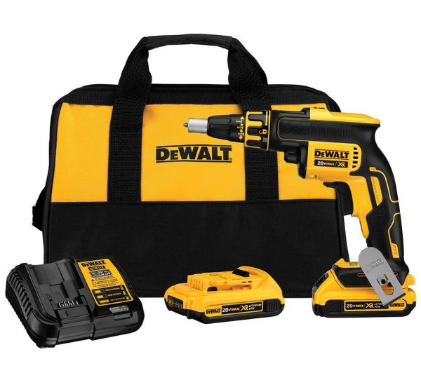 8. Dewalt DCF620D2R 20V MAX XR Cordless Lithium-Ion Brushless Drywall Screwgun Kit (Certified Refurbished)