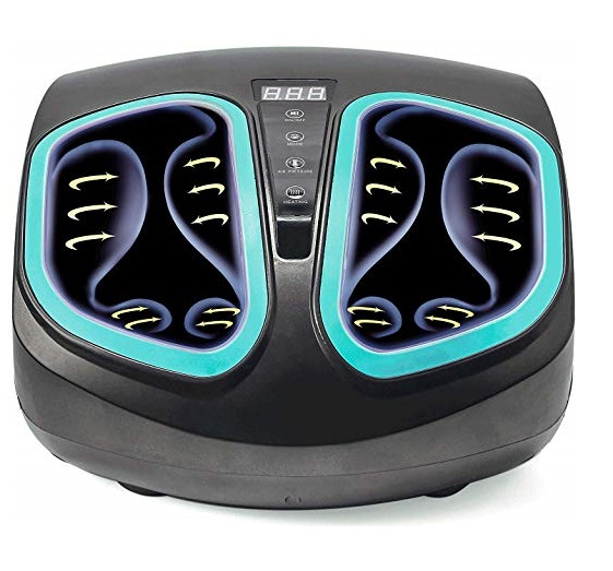 8. Shiatsu Foot Massager Machine - Electric Deep Kneading Massage with Heat & Air Compression