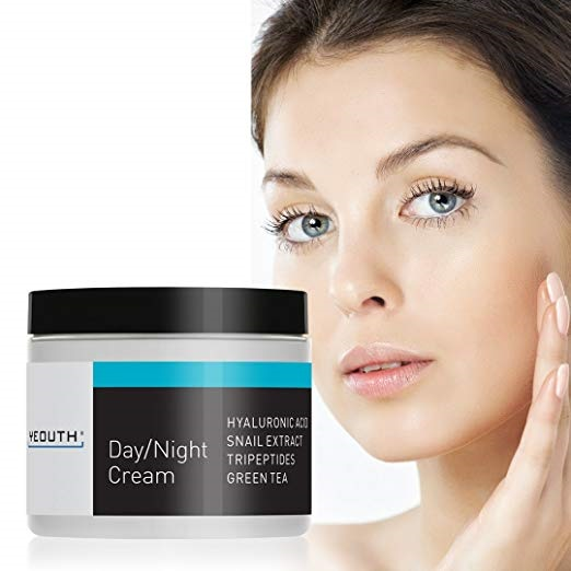 8. YEOUTH Day Night Moisturizer for Face with Snail Extract, Hyaluronic Acid, Green Tea, and Peptides