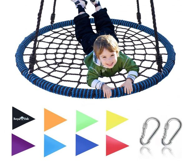 9. Spider Web Tree Swing, 600 lb Weight Capacity, Durable Steel Frame, Waterproof