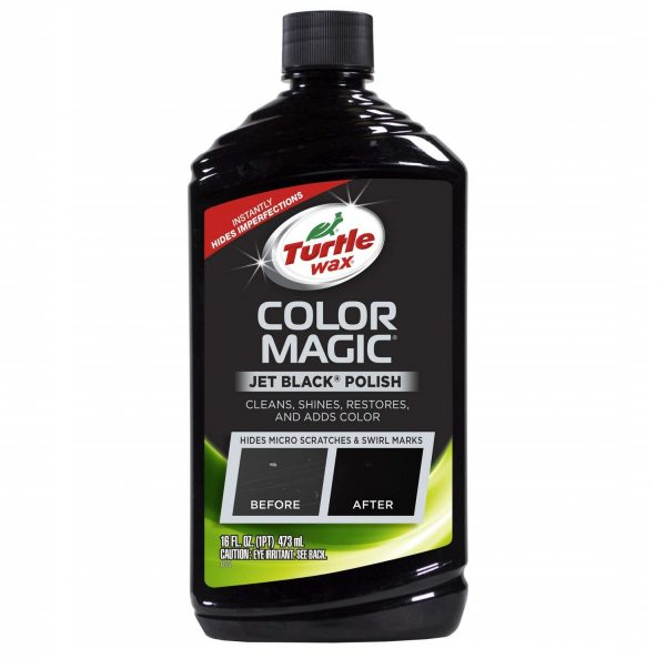 9. Turtle Wax T-374KTR Color Magic Car Polish, Black - 16 oz.