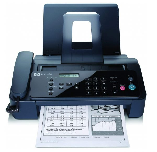 12. HP Fax Machine Professional Quality Paper Fax and Copier