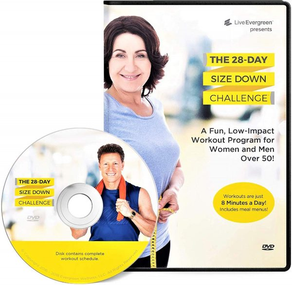 13. The 28 Day Size Down Challenge Workout DVD for Beginners and Seniors - Full Body