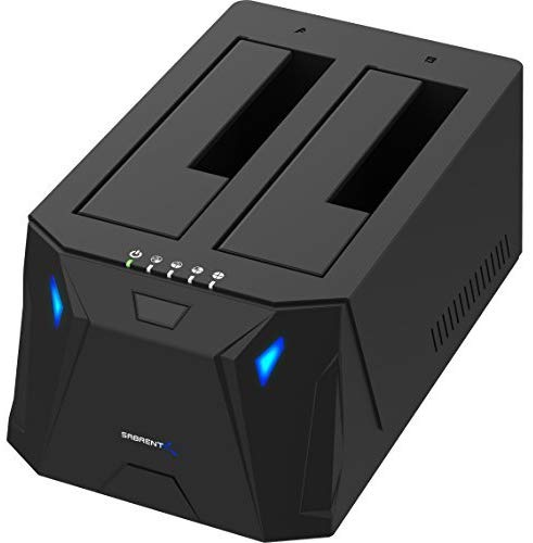 13. xternal Hard Drive Docking Station for 2.5 or 3.5in HDD, SSD with Hard Drive Duplicator