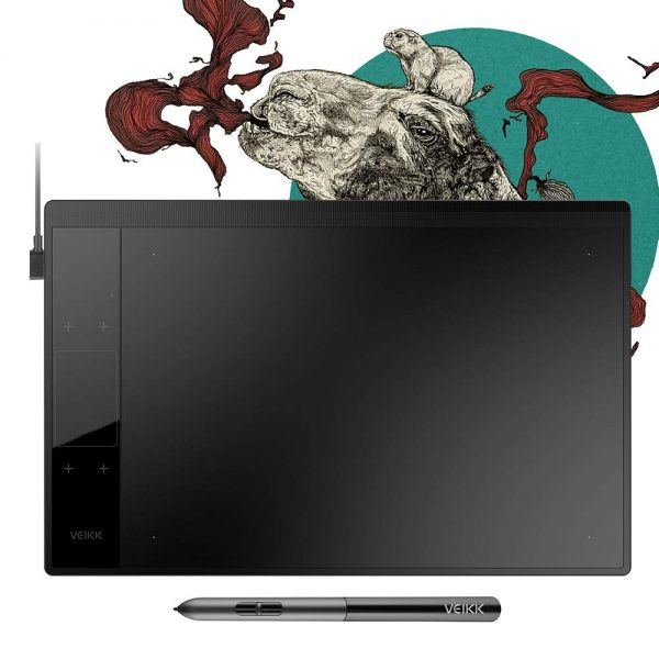 14. VEIKK A30 Graphics Drawing Tablet with 8192 Levels Battery-Free Pen