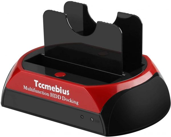 15. Hard Drive Docking Station, Tccmebius TCC-S867-US USB 2.0 to 2.5 3.5 Inch SATA IDE Dual Slots External HDD Enclosure