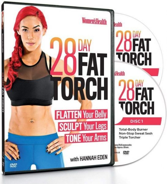 15. Women's Health 28 Day Fat Torch with Hannah Eden Flatten Your Belly, Sculpt Your Legs, Tone Your Arms
