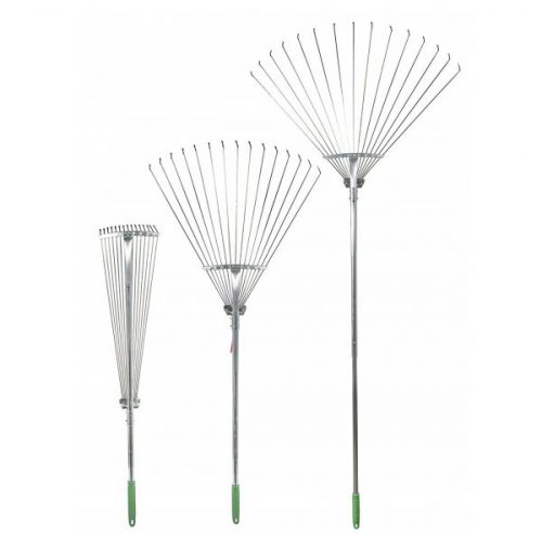 1. Professional EZ Travel Collection Telescopic Rake Folding Rake Garden Rake Heavy Duty Foldable Rake