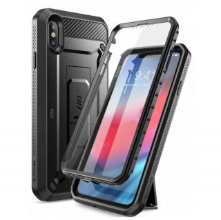 11. iPhone XS Max case, SUPCASE [Unicorn Beetle Pro Series] Full-Body Rugged Holster Case with Built-In Screen Protector kickstand for iPhone
