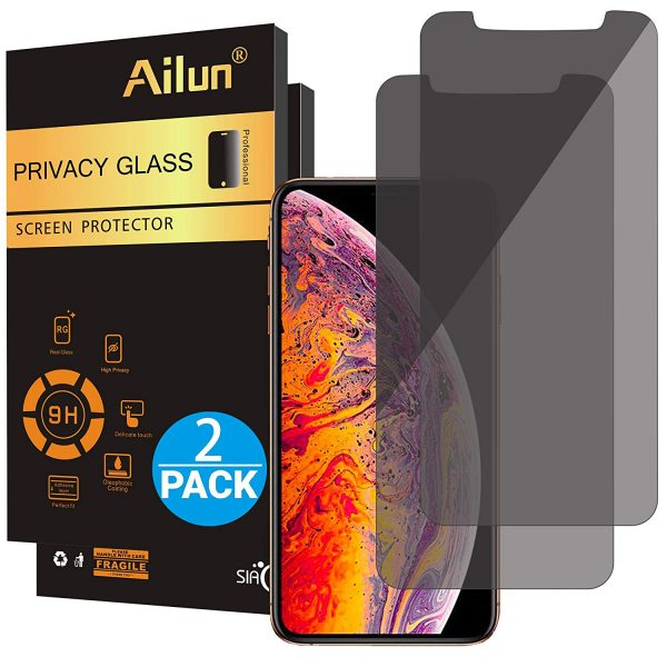 4. Ailun Privacy Screen Protector Compatible with iPhone Xs Max(6.5inch 2018 Release)