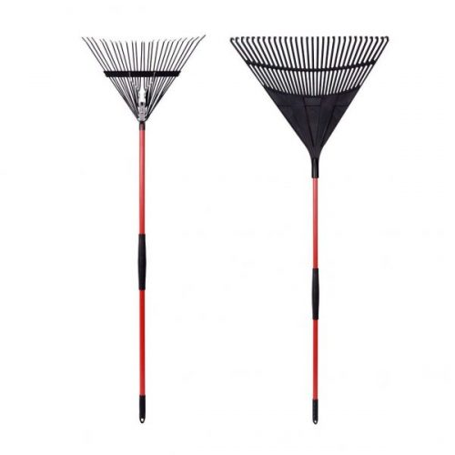 7. GardenAll 2-Pieces Garden Rakes Tool Set - 30 Teeth Poly Leaf Rake