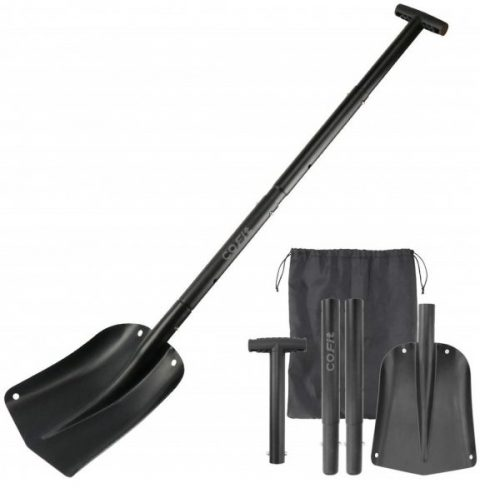9. Extra Long Handle Retractable Snow Shovel of Aluminum Alloy for Car Outdoor Camping and Garden