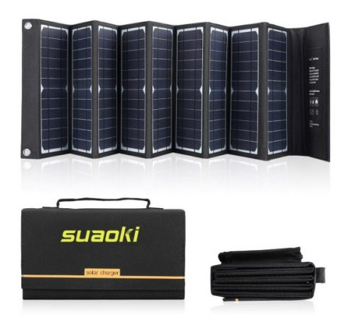 10.SUAOKI Solar Charger 60W Portable Solar Panel Foldable for SUAOKI Jackery Enkeeo Goal Zero Yeti Webetop Paxcess ROCKPALS Power Station Generator and Laptop