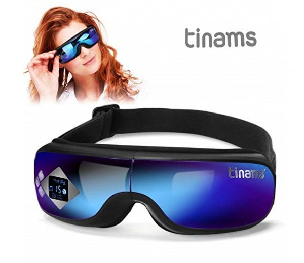 11.Tinams Electric Eye Massager with Graphene Heating, Smart Massage Eye Mask Portable Eye Massager for Dry Eye Eyestrain Fatigue Relief
