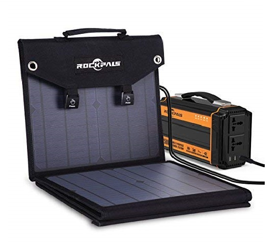 12.ROCKPALS Foldable 60W Solar Panel Charger for Suaoki Jackery Explorer 240 Webetop Goal Zero Yeti Paxcess Portable Power Station Generator and USB Devices,...