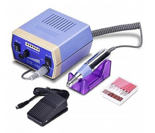 13.Nail Drill Machine 30000RPM, 2019 Updated Electric File Grinder Manicure Pedicure Tool Bits Set with Low Noise. (Metallic)