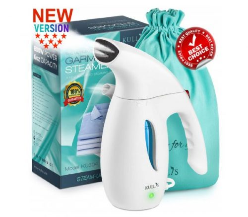 15.KULLIS Premium [New-Upgraded] - Premium Steamer for Clothes, Clothes Steamer, Portable Handheld Clothing Steamer. 8-in-1 Hand Travel Fabric Steamer, Home