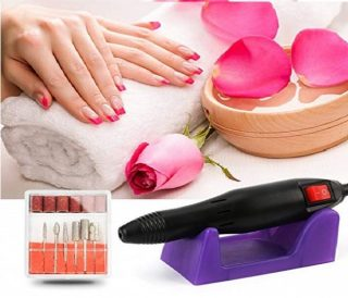 2.Electric Nail Drill Machine Nail File Drill Set Kit for Acrylic Nails, Gel Nail, Nail Art Polisher Sets Glazing Nail Drill Fast Manicure Pedicure by Buycitky (Rose)