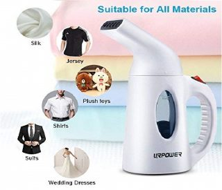 2.URPOWER Garment Steamer 130ml Portable 7 in 1 Handheld Fabric Steamer Fast Heat-up Powerful Garment Clothes Steamer with High Capacity for Home and Travel