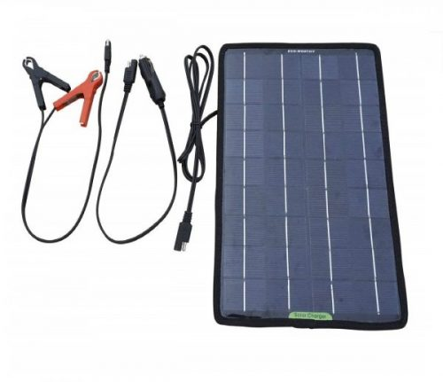 5.ECO-WORTHY 12 Volts 10 Watts Portable Power Solar Panel Backup for Car Boat with Alligator Clip Adapter