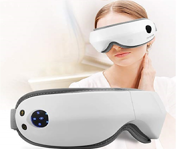 7.Zerovida Electric Eye Massager, Eye Care Instrument with Air Pressure, Heating,Vibration, Music for Relief Eye Fatigue,Dry Eyes and Dark Circle, Stress Relief Protection V