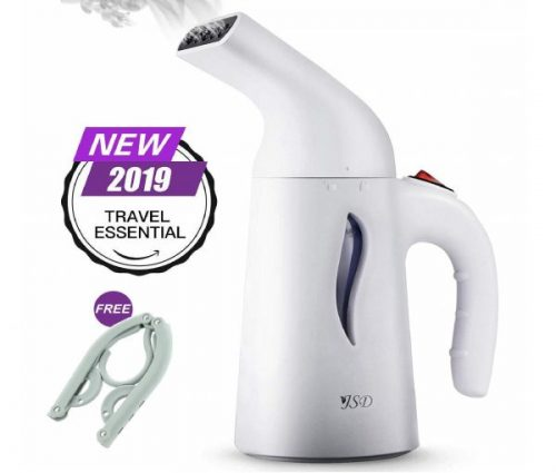 8.JSD Steamer for Clothes, 7 in 1 Travel Garment Steamers, 150ml Powerful Handheld Fabric Steamer with High Capacity for Home and Travel, Travel Pouch