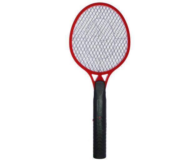 8.Koramzi F-4 Best Electric Mosquito Swatter Racket for Indoor and Outdoor 3 Layer Wasp, Bug & Mosquito Trap and Zap Pest and Insect Control- (Red) Large Size