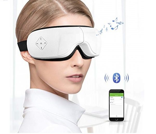 9.Phniti Electric Eye Massager with Heat Compression,Air Pressure,Vibration Music and 5 Working Modes for Eye Futigue Dry Eyes Stress Relief