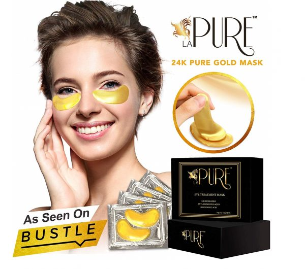 1.LA PURE 24K Gold Eye Treatment Masks - Under Eye Patches