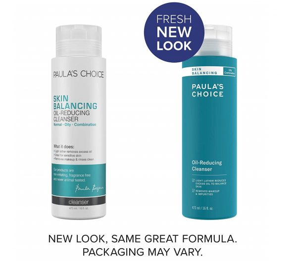 10.Paula's Choice SKIN BALANCING Oil-Reducing Cleanser with Aloe, Face Wash for Oily Skin & Large Pores, 16 Ounce