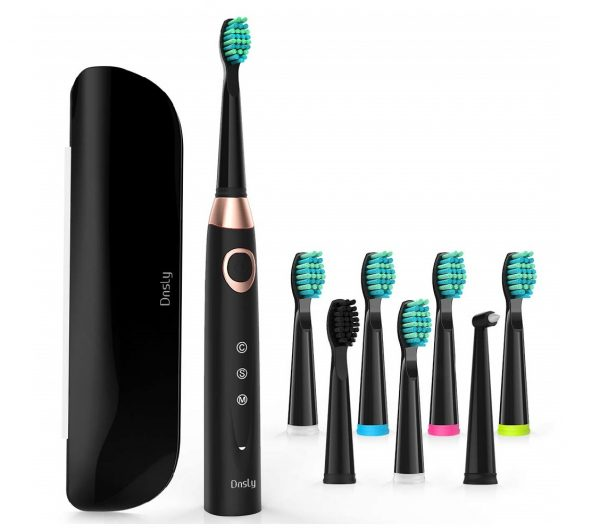12.Sonic Electric Toothbrush with 8 DuPont Brush Heads & Travel Case