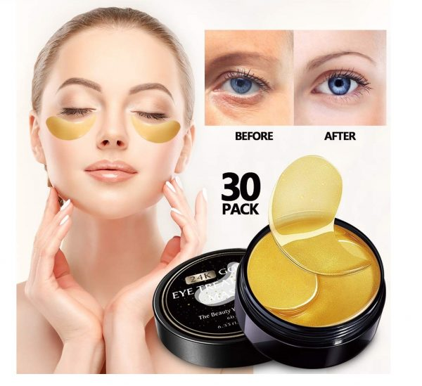 12.Vanelc 24k Gold Eye Mask-with Collagen Under Eye Patches