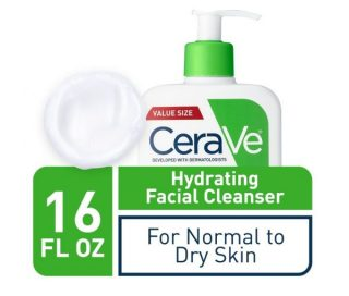 2.CeraVe Hydrating Face Wash 16 Ounce Daily Facial Cleanser for Dry Skin Fragrance Free