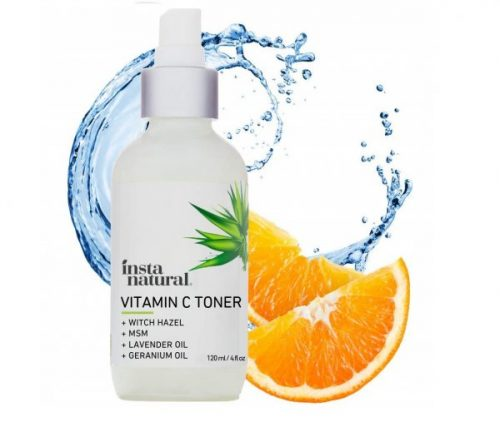 3. InstaNatural Vitamin C Facial Toner - Anti Aging Face Spray with Witch Hazel - Pore Minimizer & Calming Skin Treatment for Sensitive, Dry & Combination Types - Prep for Serums & Moisturiz