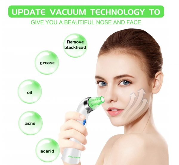 3.Blackhead Remover Vacuum - June Julien Facial Pore Cleanser Electric Acne