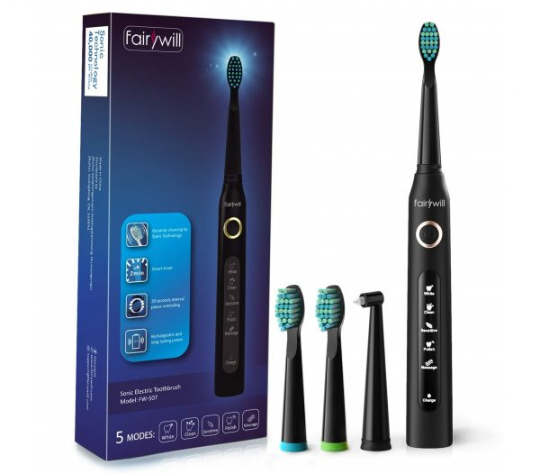 3.Electric Toothbrush Clean as Dentist Rechargeable Sonic Toothbrush