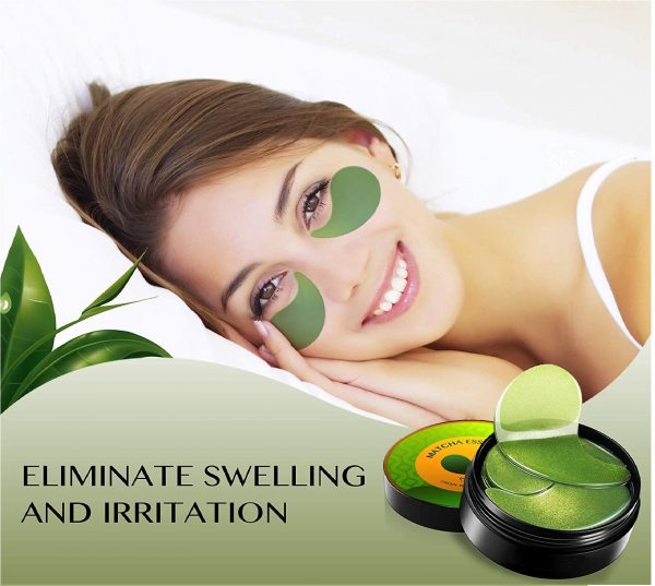 3.Under Eye Patches Matcha Essence Collagen Anti-Wrinkle Pads Green Tea Eye