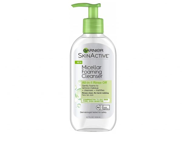 5.Garnier SkinActive Micellar Foaming Face Wash, For Oily Skin, 6.7 fl oz