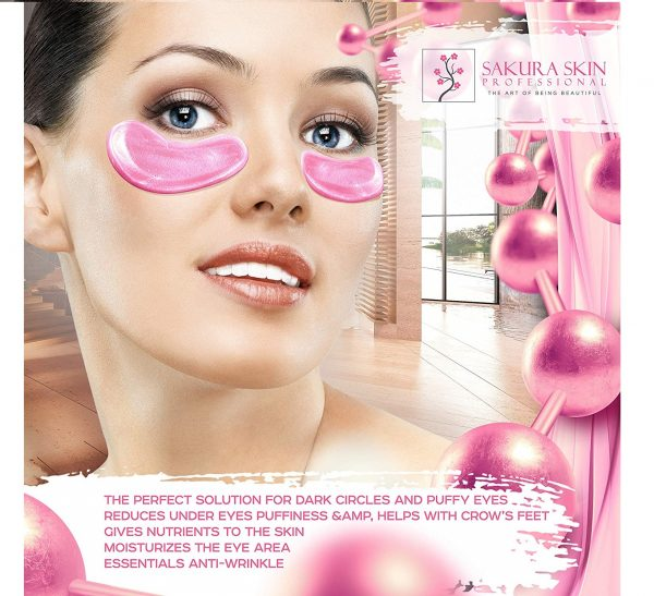 6.Eye Pads 24k Rose Gold Eye Mask Anti-Aging Hyaluronic Acid Eye Patches