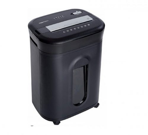 9.AmazonBasics 15-Sheet Cross-Cut Paper, CD Credit Card Office Shredder