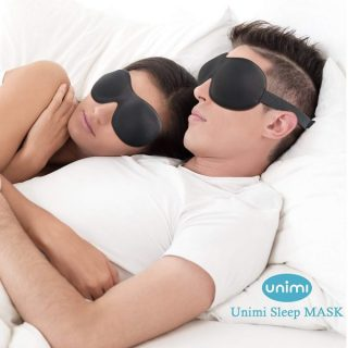 9.Eye Mask for Sleeping,Unimi Sleep Mask for Men Women, Block Out Light,Comfort and Lightweight 3D Eye Cover,Pressure-Free Eye Shades for Travel,Shift Work,Naps,Night Blindfold (Black)