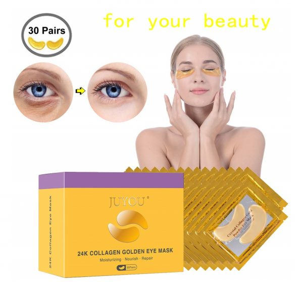 9.JUYOU 24K Gold Under Eye Patch, Eye Mask, Collagen Eye Patch