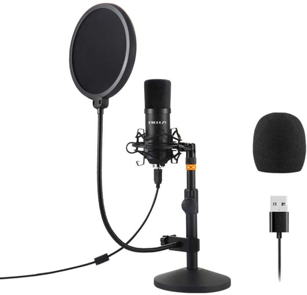 3. USB Streaming Podcast PC Microphone,Professional Computer Mic