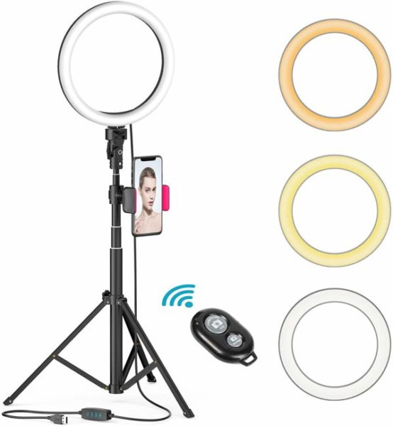 5. Dimmable Beauty Ringlight with Tripod Stand