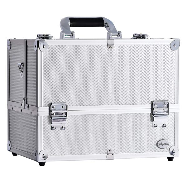5. Makeup Train Case Large 6 Tray Professional Organizer Box