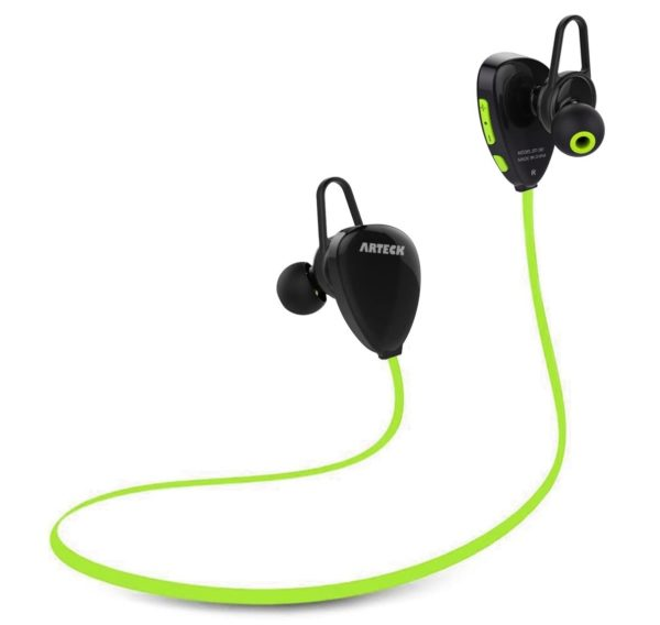 6. Arteck Wireless Bluetooth Headphones for Running Sports Portable Earphones
