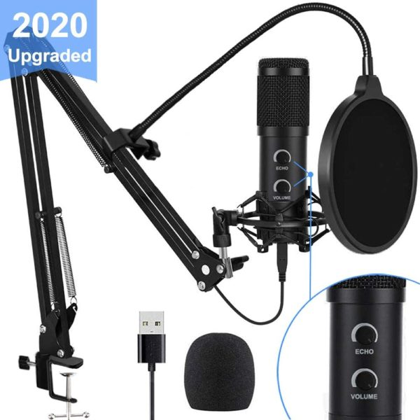 8. USB Condenser Microphone for Computer, Great for Gaming, Podcast